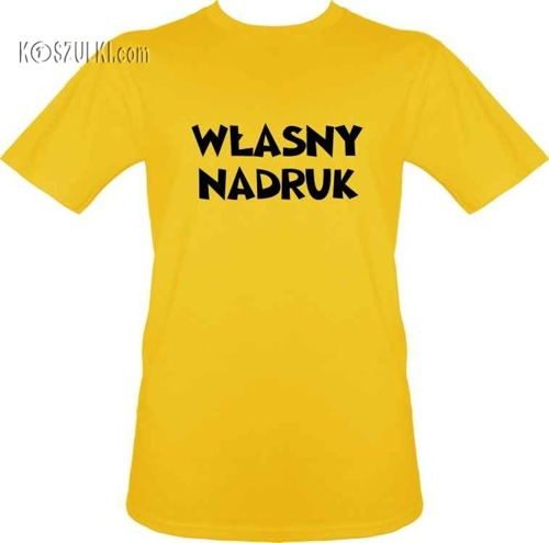 t-shirt z własnym nadrukiem- Żółty